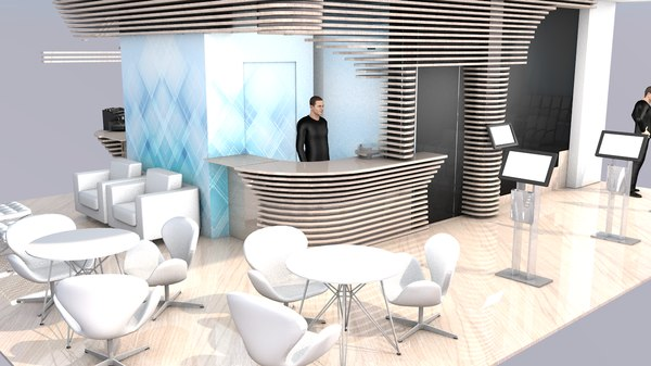 expo exhibition stand project 3D model