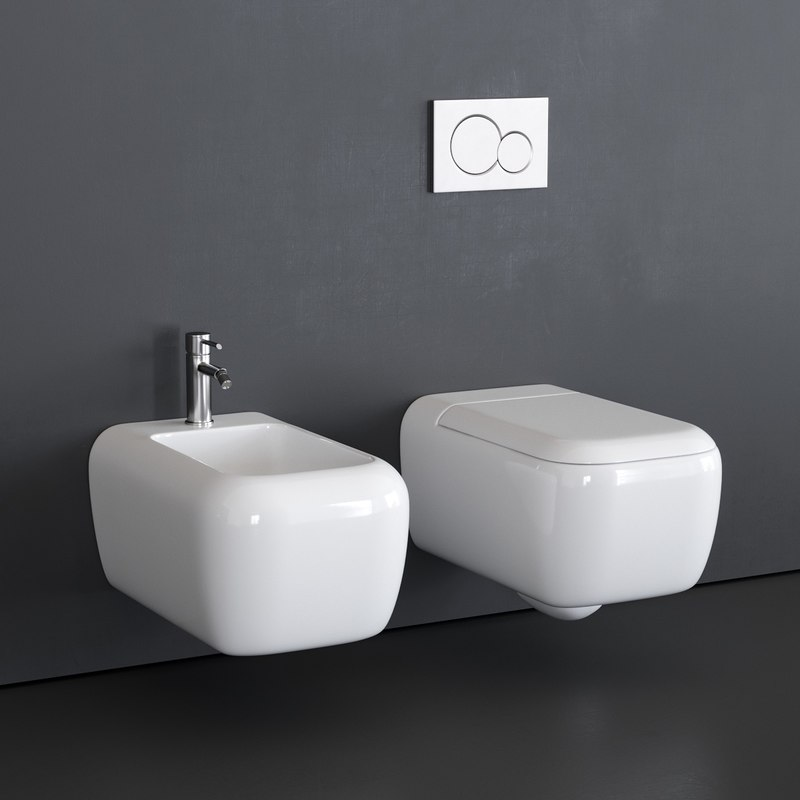 toilet shui wall-hung bidet 3D model