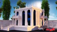 3D villa classic exterior 2
