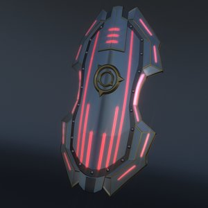 3D model sci-fi shield