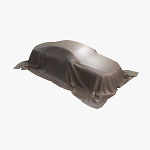 car cover leather brown 3D model
