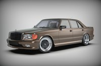 car mercedes w126 long 3D model