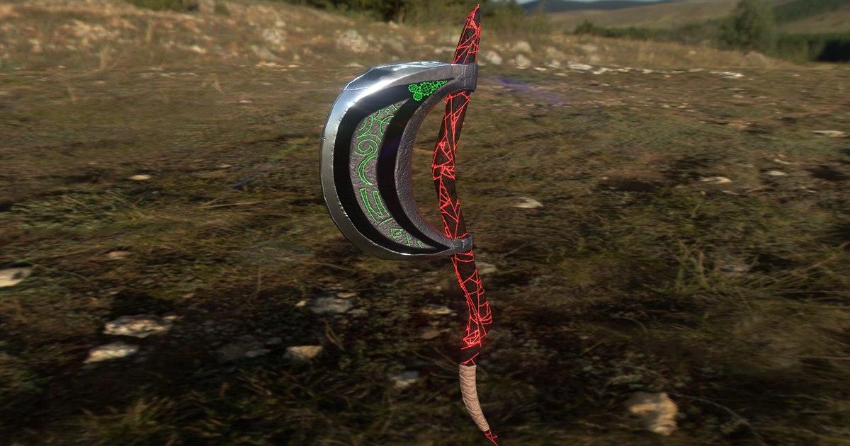 3D rpg axe