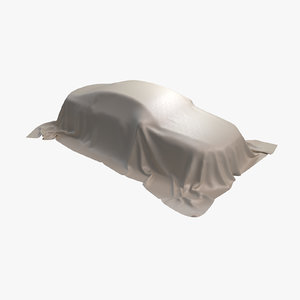 3D car cover leather beige model