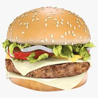 Realistic Hamburger - Best 3D Model.