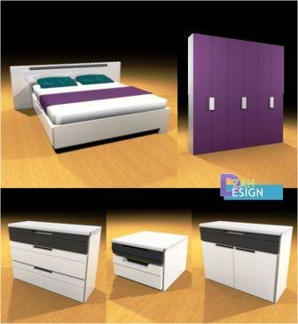 3D set bed model