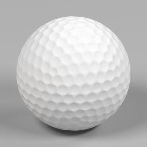 3D realistic golf ball