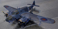 ww2 aircraft british bombers 3D