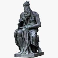 moses statue 3D model