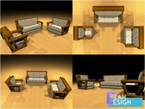 woodsofa livingroom 3D model