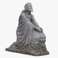 jesus praying statue 3D model