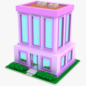 cartoon house 12 3D model