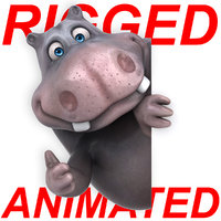 fun cartoon hippo ! 3D