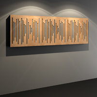 3D wooden acoustic wall panel