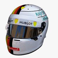 3D vettel helmet e model