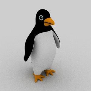 3D model penguin cartoon