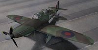 ww2 aircraft british fighters 3D model