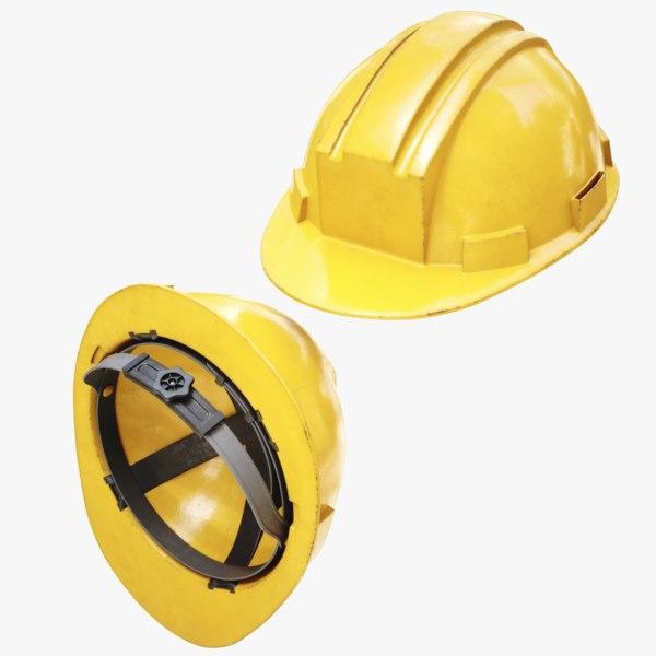 3D lightwave construction helmet model