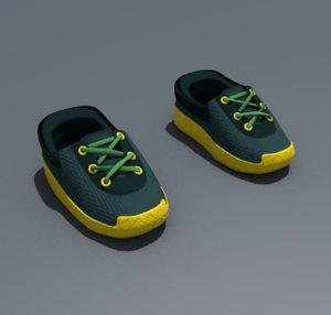 shoes running 3D model