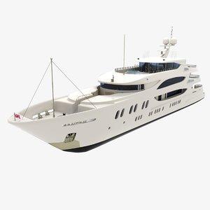 3D trinity yacht 57m lady