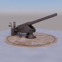 krupp cannon 3D