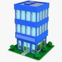3D model cartoon house 13