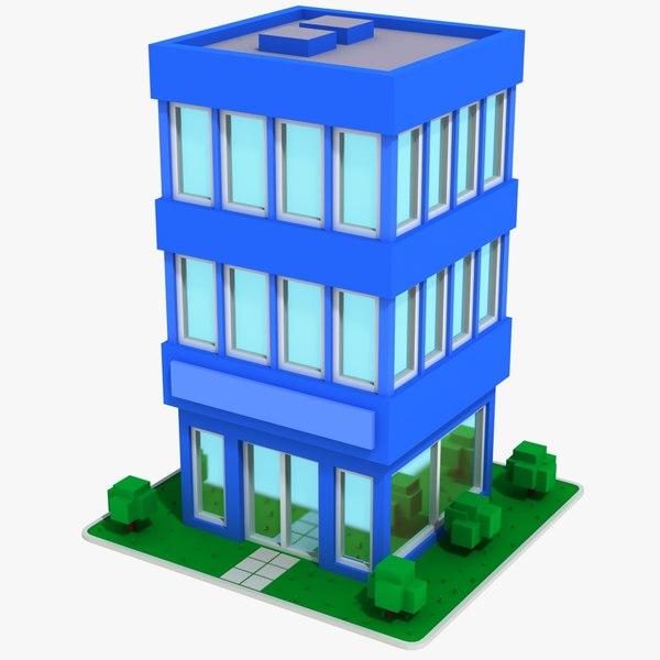 3D model cartoon house 13