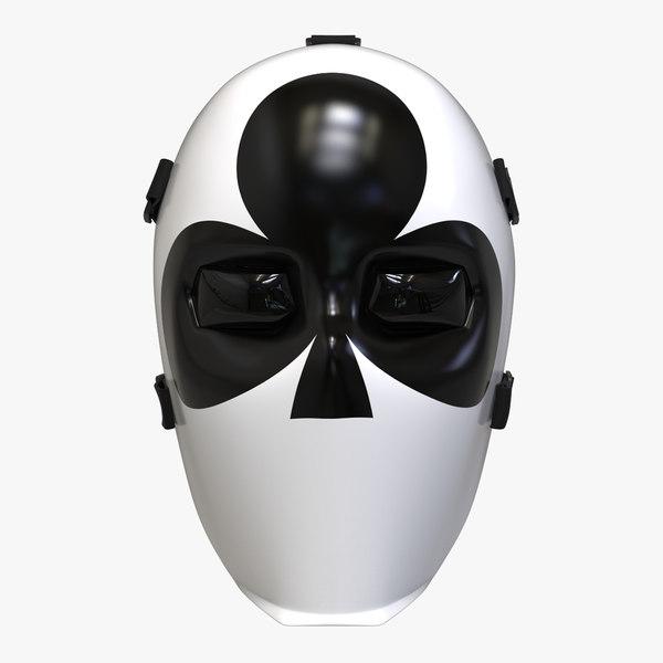 fornite joker mask club model