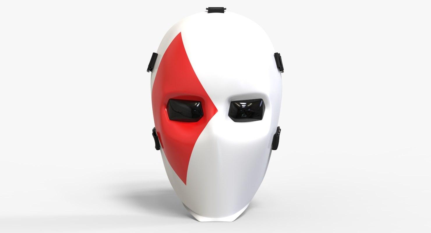 fornite joker mask 3D model