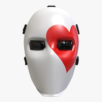 3D fornite joker mask heart