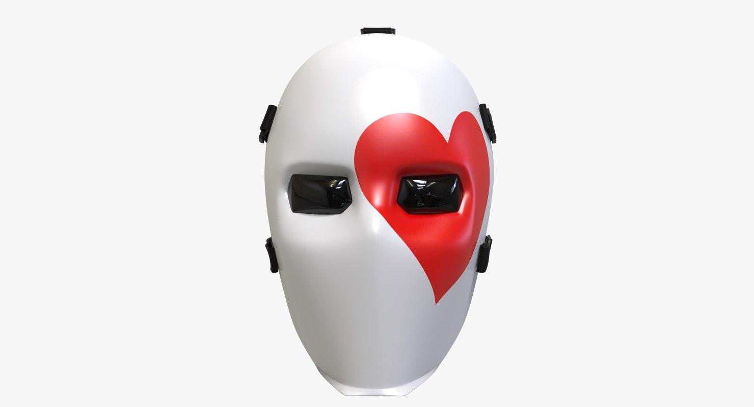 3D fornite joker mask heart