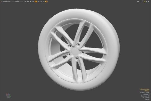 car hubcaps 3D model