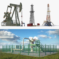 oil production equipment 3 3D model