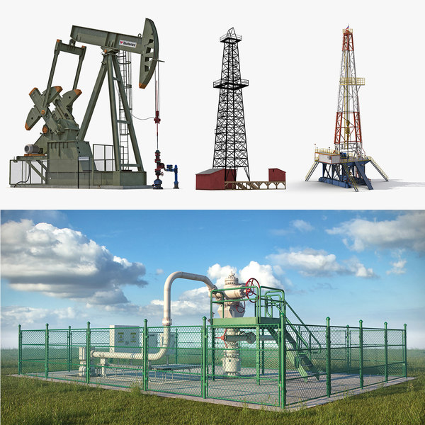oil production equipment 3 3D model
