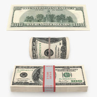 3D dollar bills