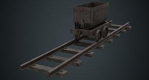 mining cart 1b 3D