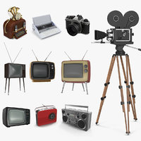 Retro Electronics 3D Models Collection 2