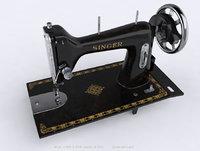 retro singer machine 3D model