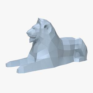 3D paper lion model