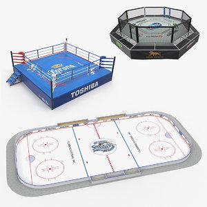sport arenas 3D model