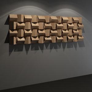 triangle diffuser - studio 3D model