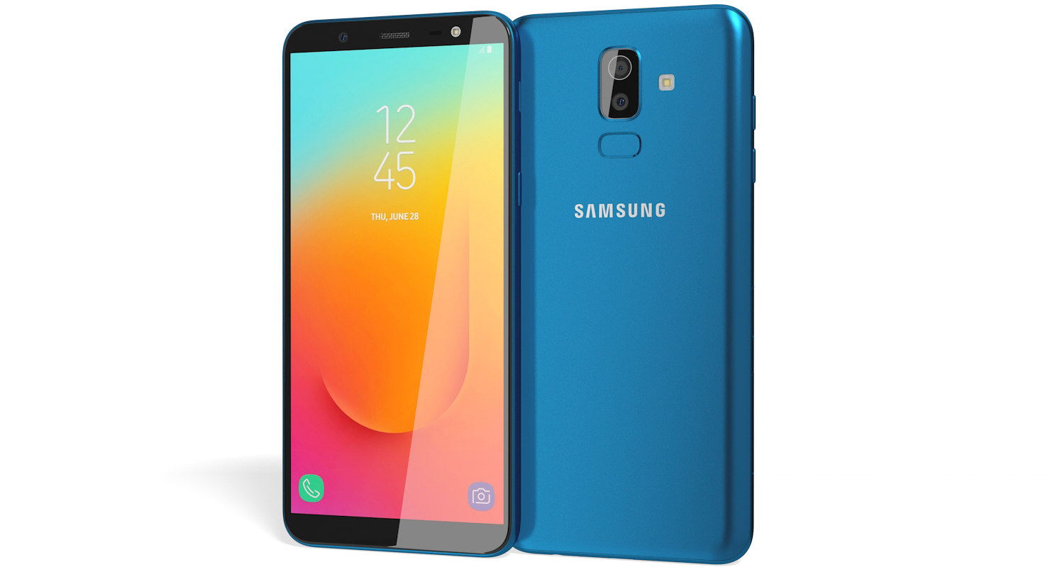 3D realistic samsung galaxy j8 model
