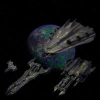 3D spaceships planet model