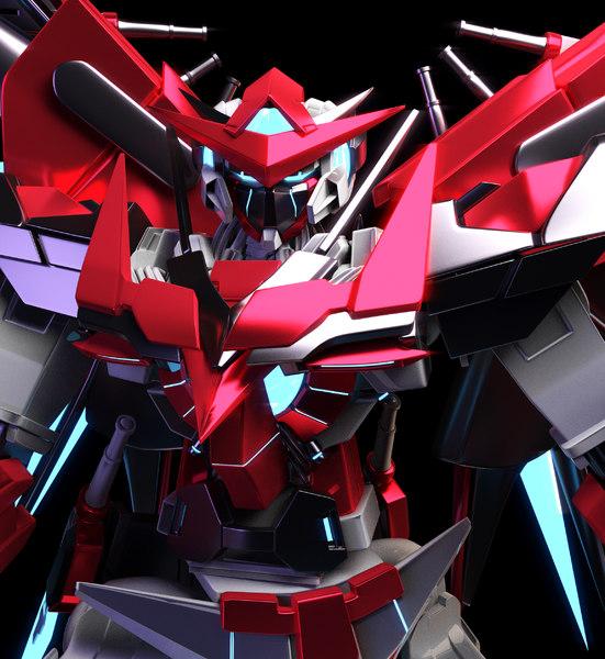 gundam exia dark 3D model