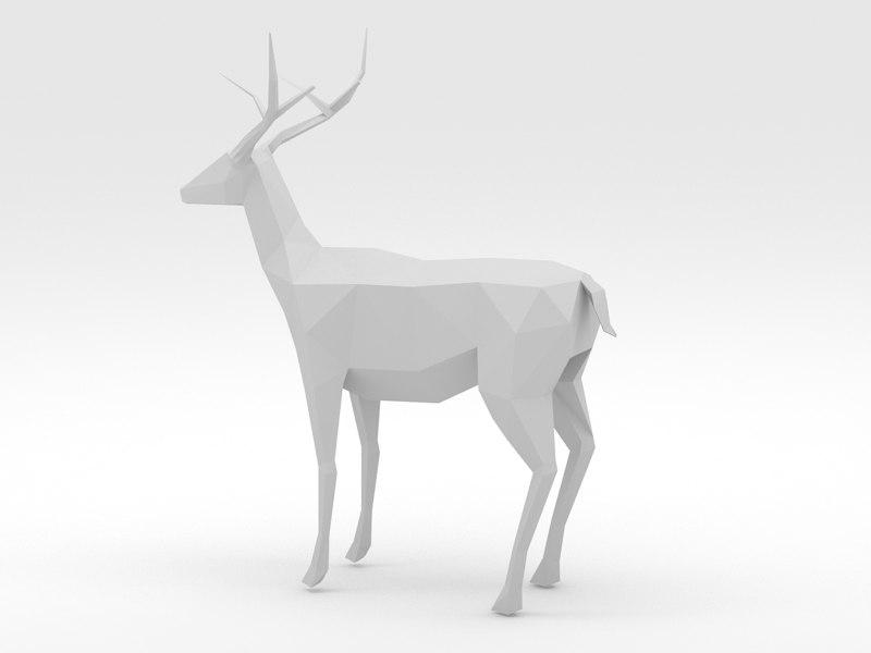 3D deer - a42