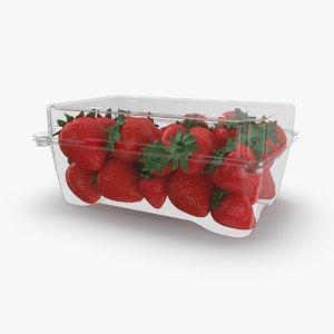packaged-strawberries 3D