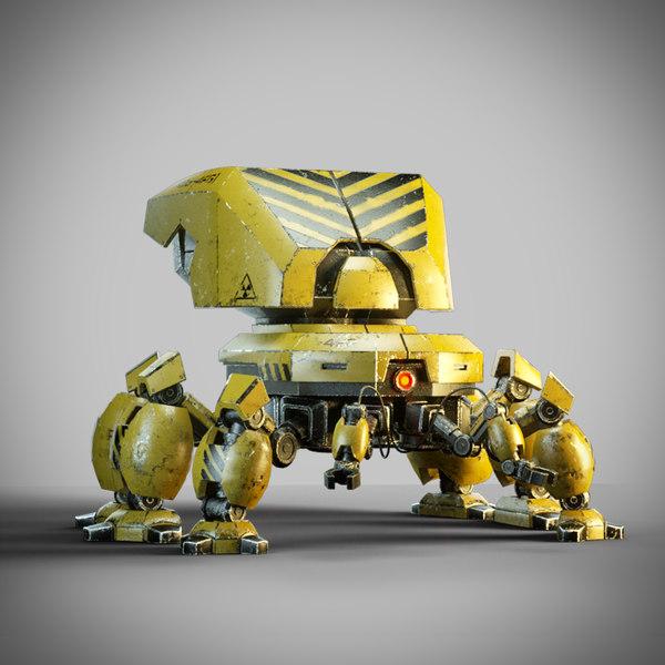 3D robot rigged