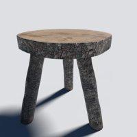 log stool 3D