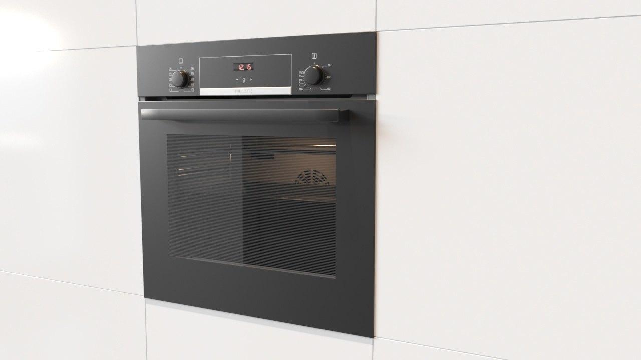 3D bosch built-in electric oven model