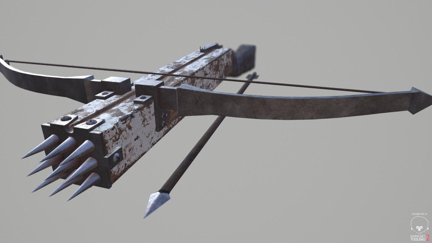 3D crossbow pbr fantasy